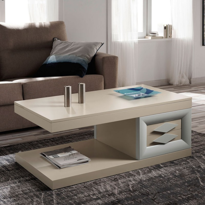 Mesa centro elevable expositora cloe lugo menamobel - Mesa de salon elevable ...